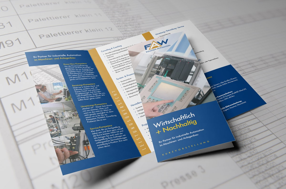 Infobroschüre für FAW Industrial Automation