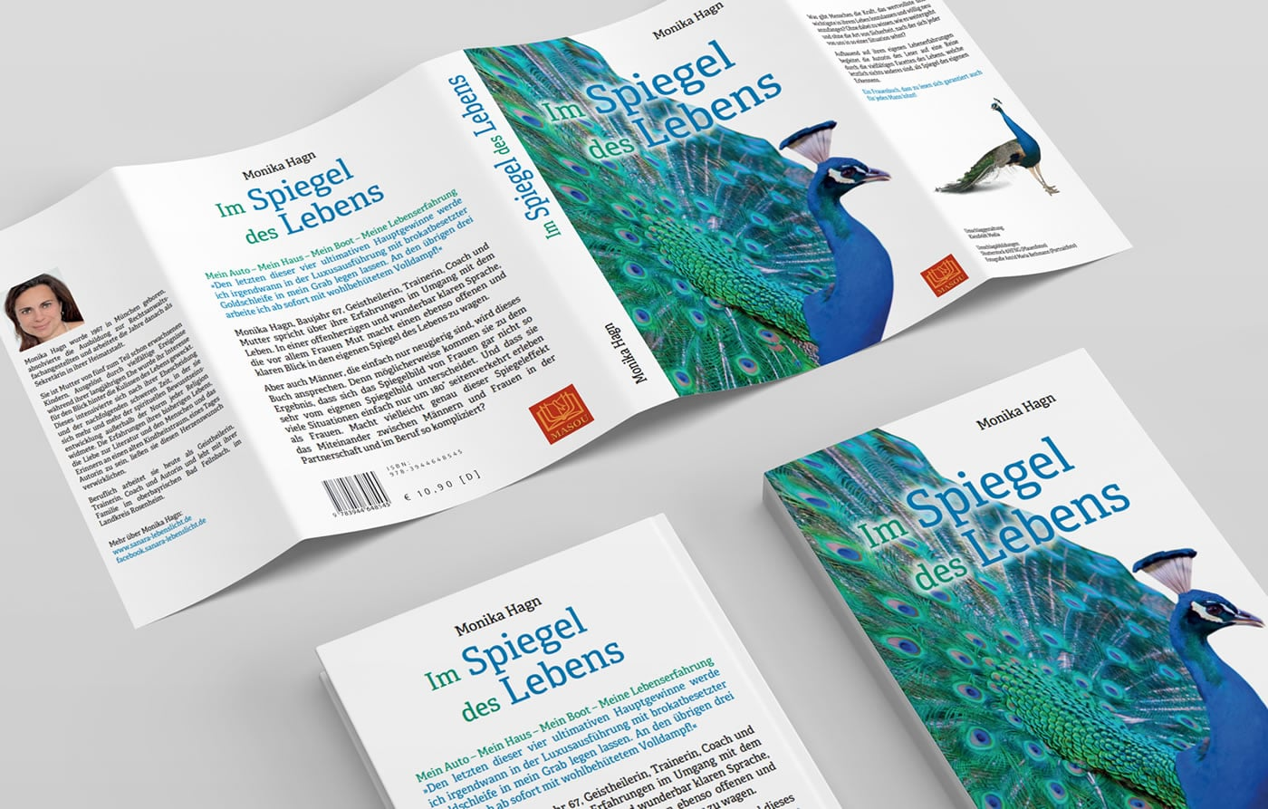 Schutzumschlag für Buchcover Monika Hagn