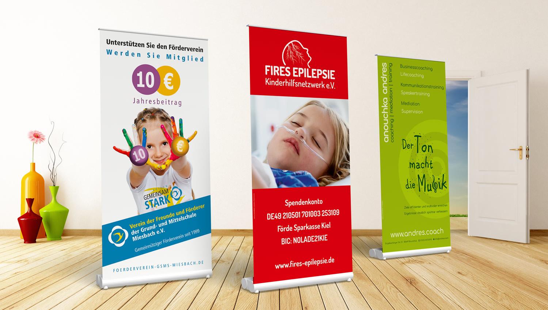 Grafikdesign für Roll-Up Banner Displays