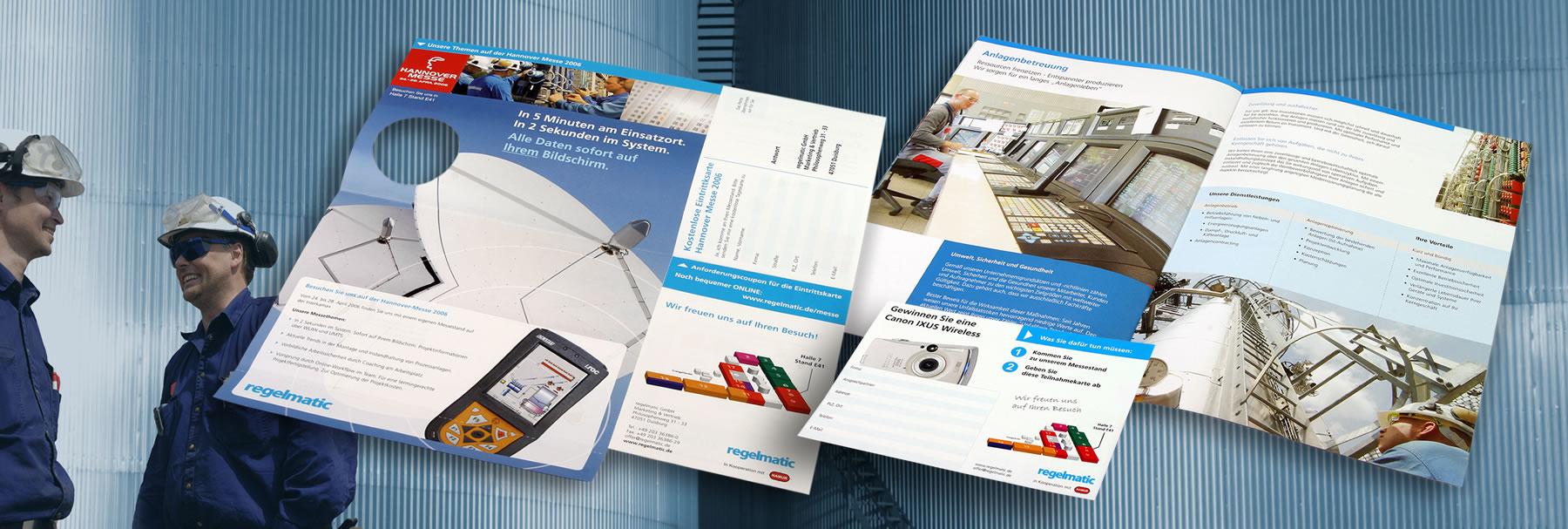 Grafikdesign für regelmatic GmbH Rodgau im Rahmen der Hannover Messe