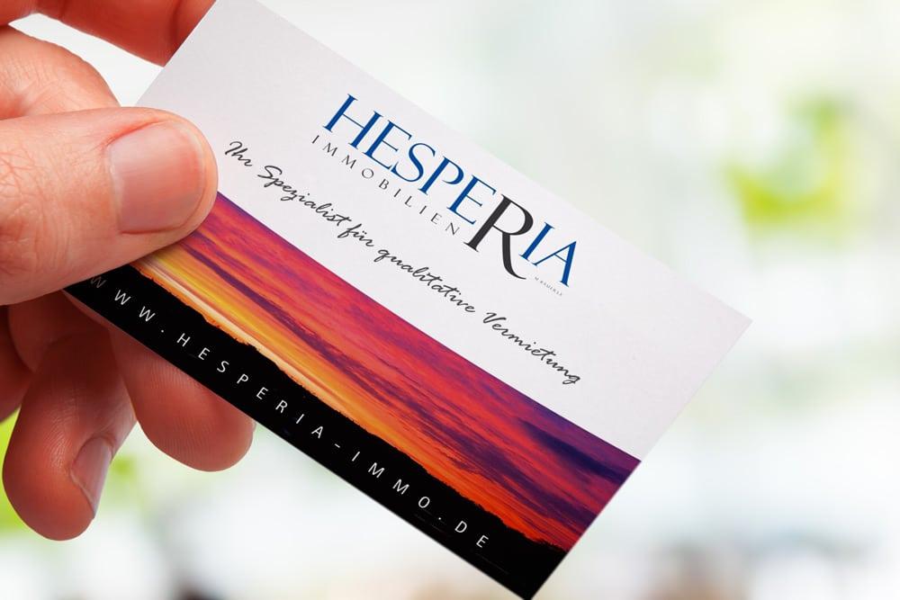 Mediendesign für Hesperia Immobilien