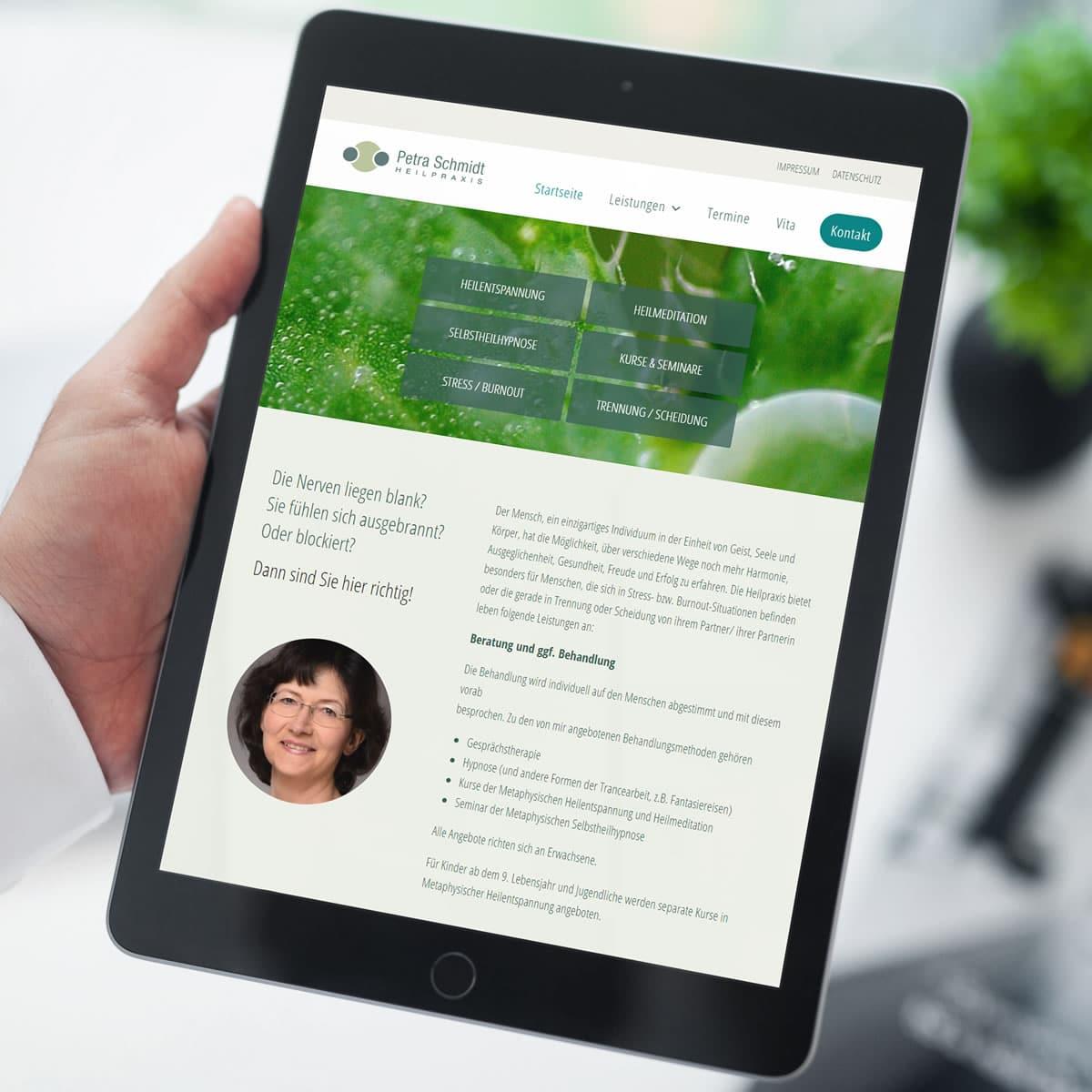 Responsive Webdesign für Heilpraxis Petra Schmidt