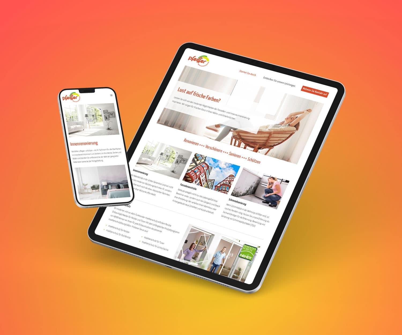 Responsives Webdesign für Mario Pfeiffer Malermeisterbetrieb