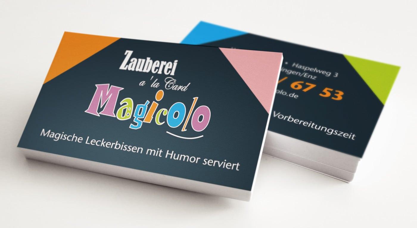 Grafikdesign für Partyzauberer Magicolo